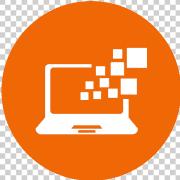 orange computer icon